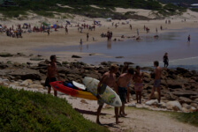 Seals Backpackers - Surfing1